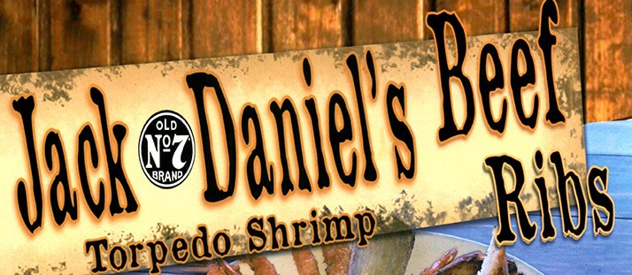 Saturday: Jack Daniel's Beef Ribs & Torpedo Shrimp